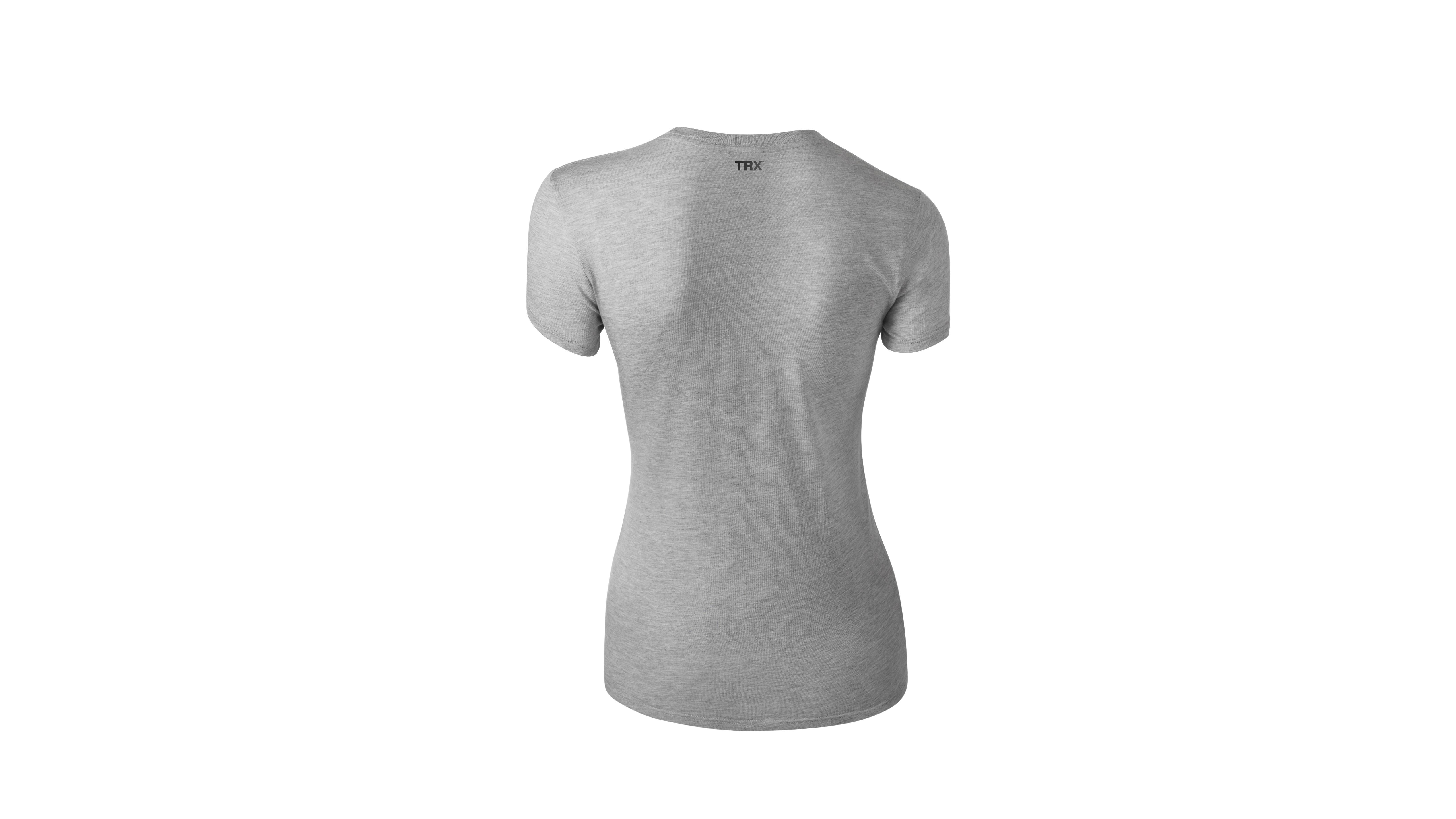 T-Shirt MYBYM Schwarz auf Grau Frauen Medium