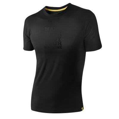 T-Shirt MYBYM Schwarz auf Schwarz Männer Xlarge