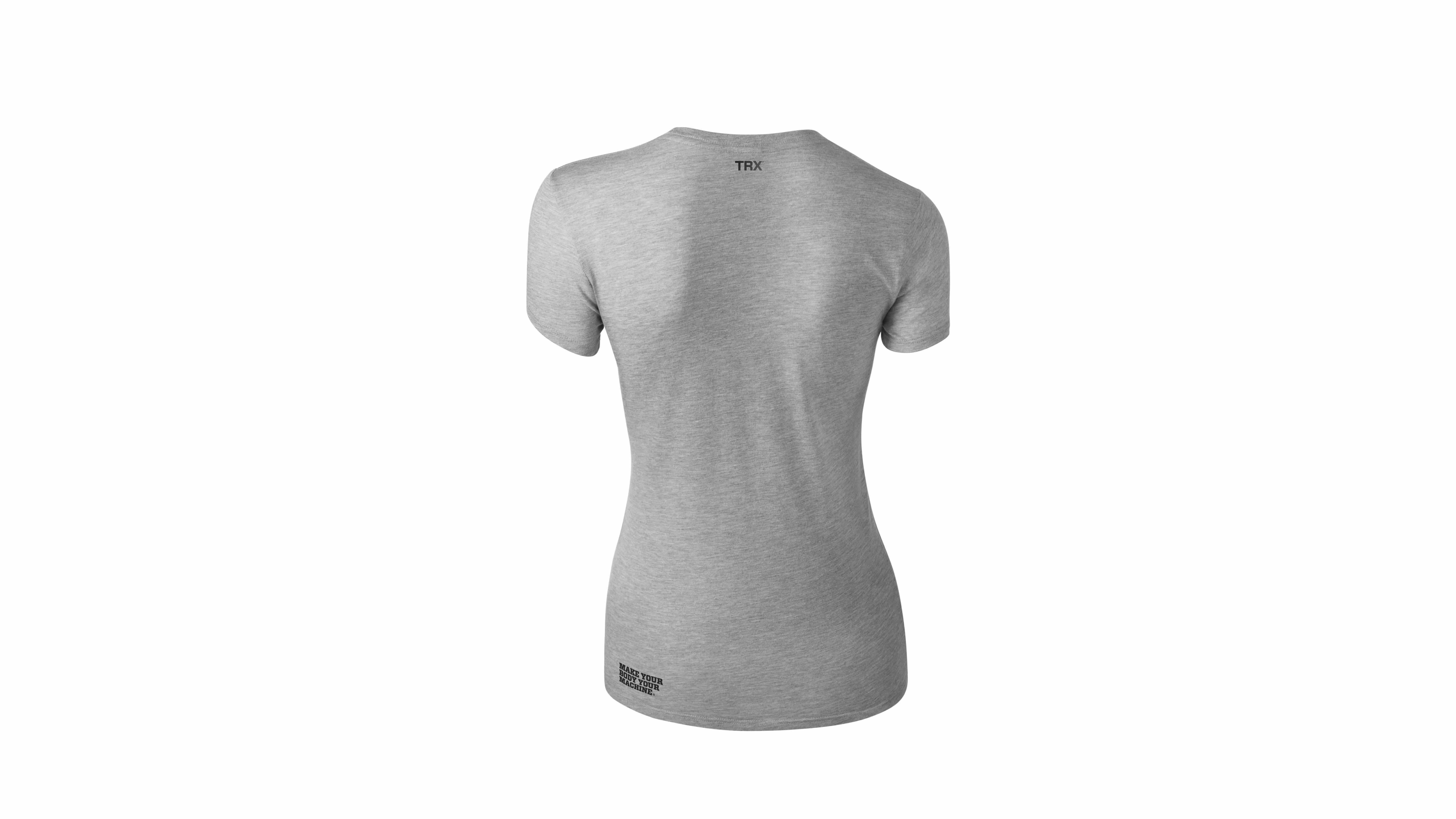 T-Shirt TRX Schwarz auf Grau Frauen Large