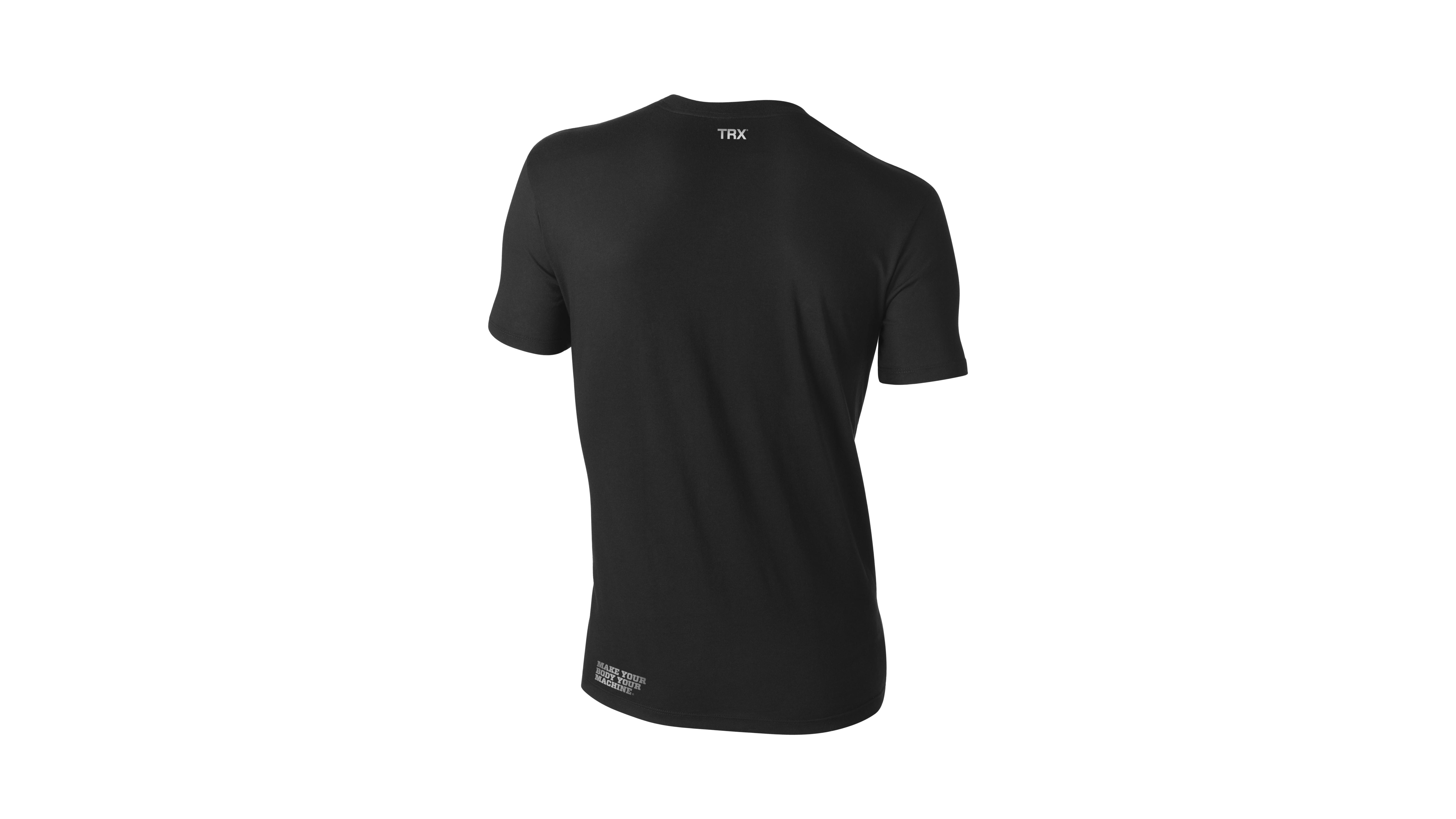 T-Shirt TRX  Weiß auf Schwarz Männer Xlarge